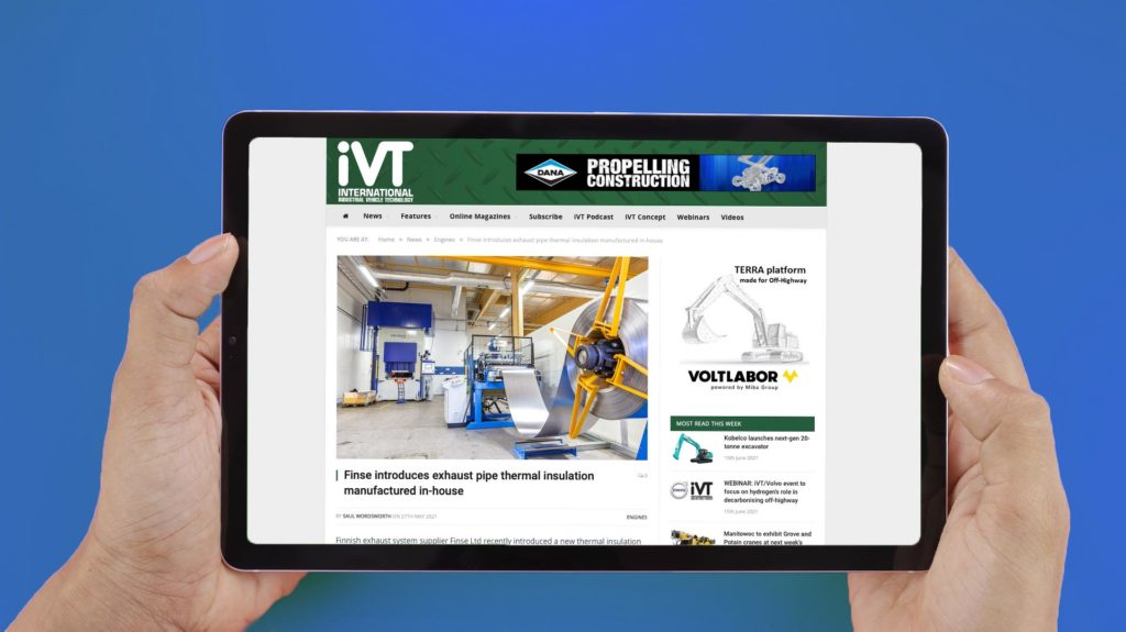 IVT magazine features Finse's thermal insulation investments